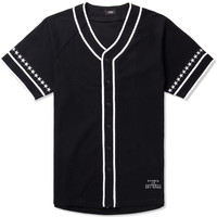 Black Star Sleeve Cotton Jersey