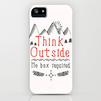 Think Outside - No Box Required iPhone & iPod Case by PositIva