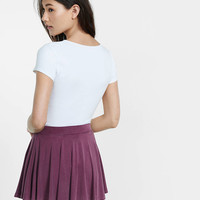purple soft circle skort