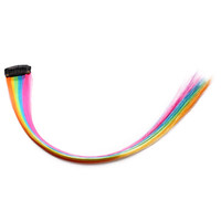 Rainbow Color Hair Extension One Card Wig    light color 6 colors