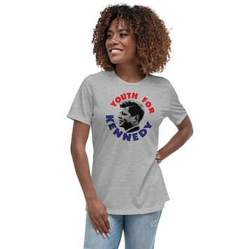 Youth For Kennedy Retro Campaign Women's Relaxed T-Shirt