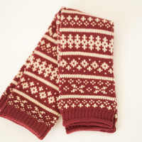 Snowflake Leg Warmers / Boot Socks