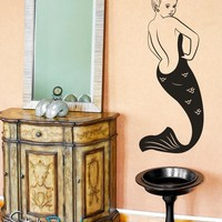Sexy Mermaid Pin up Girl Vinyl Wall Decal Sticker. #OS_MB132