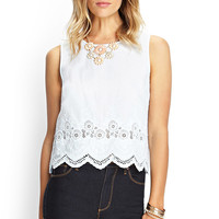 Embroidered Cotton Crop Top
