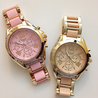 Beautiful Two-Tone Color Metal Watches #W54