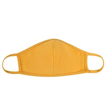 Solid Mustard Face Mask - Covid 19