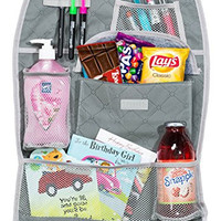 SKARLES Backseat Car Organizer for Driver, Kids, and Baby Travel Accessories storage. Made From New and Improved Durable Material.