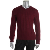 Calvin Klein Mens Cable Knit Raglan Sleeves Pullover Sweater