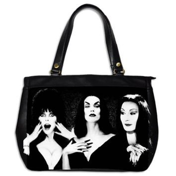 Ghoul Girls Elvira, Vampira and Morticia Tote Bag