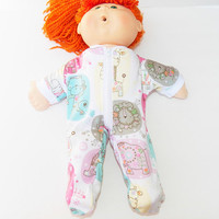Cabbage Patch Clothes, fits 16 inch kids girl doll, Pajamas Pjs Sleeper. 'Emma at the Zoo'