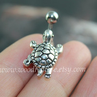 Turtle Belly Button Rings, turtle belly button jewelry,turtle Navel jewelry,friendship belly rings, Dangle Belly Ring ,Belly Button Piercing