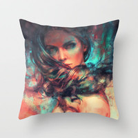 Islands Throw Pillow by Alice X. Zhang