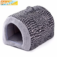 2017 New Fashion 2 Color Leopard Easy to Carry Pet Bed Lovely Cats House Dog Kennel Cozy Mat Soft Dog Bed Goods for Pets