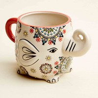 Red Mandala Elephant Ceramic Mug