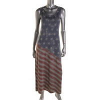 Style & Co. Womens Graphic Sleeveless Tank Dress