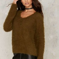 Glamorous In Fur a Surprise Sweater