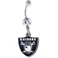 Oakland Raiders NFL Sexy Belly Navel Ring