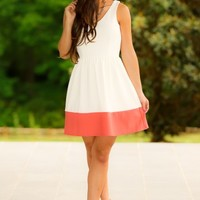Easy Like Sunday Morning Dress-Coral
