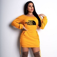 THE NORTH FACE Women Long Sleeve Dress yellow