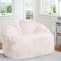 Ivory Polar Bear Faux Fur Cloud Couch