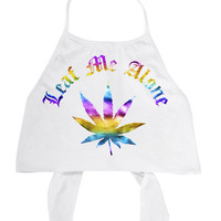Leaf Me Alone White Halter