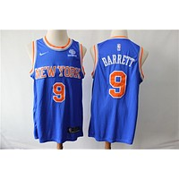 New York Knicks 9 Rowan Barrett Jr Swingman Jersey