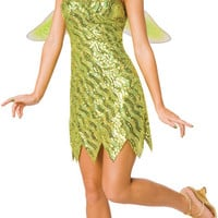 Sequin Deluxe Tinkerbell Adult Costume | (Small)