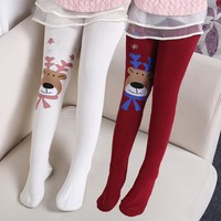 Girls Tights Leggings elastic waist cotton