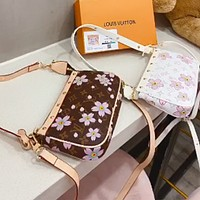 LV 2020 new floral graffiti Mahjong bag coin purse shoulder bag messenger bag