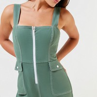 UO Ziggy Zipper-Front Jumpsuit | Urban Outfitters