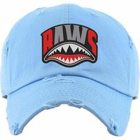 Angry Shark Mouth Baws Carolina Dad Hat