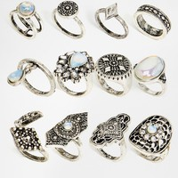 New Look 12 Pack of Statement Rings