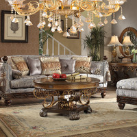 Homey Design HD-1212 Complete Living Room Sofa, Loveseat, Chair & Table Set