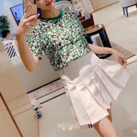 """""""LOUIS VUITTON"""" Woman Casual Fashion Letter  Personality Printing Short Sleeve T-Shirt Tops"""