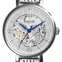 Women's Fossil 'Jacqueline' Skeleton Dial Bracelet Watch, 27mm