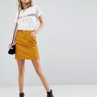 ASOS Cord Original Skirt in Marigold at asos.com