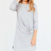 Silence + Noise Xander Drape-Side Midi Dress - Urban Outfitters