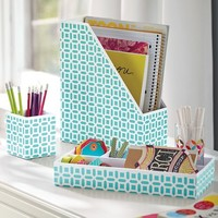 Peyton Desk Accessories Set, Pool Peyton
