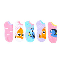 Disney Finding Dory No-Show Socks 5 Pair