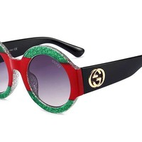 GUCCI Fashion Ladies Men Colorful Frame Summer Sun Shades Eyeglasses Glasses Sunglasses I-8090-YJ