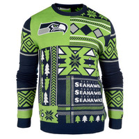 "Seattle Seahawks Official NFL Men's ""Ugly Sweater"""