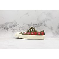Comme Des Garcons Play X Chuck 70 Low Top Multi Heart Cdg Sneakers