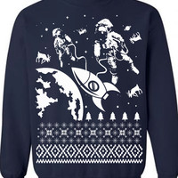 Astronaut in Space Ugly Christmas Sweater