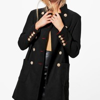 Phoebe Boutique Double Breasted Military Coat