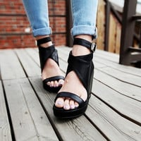 New Summer Lace Up Sandals = 4777244292