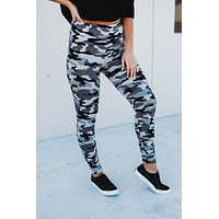 Nap Time Approved Leggings (Grey Camo)