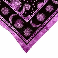 Purple Sun Moon Tapestry Astrology Hippie Bedding Wall Hanging Tapestries 5484