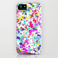 Paint Splatter 1 - White iPhone Case by Ian Layne | Society6