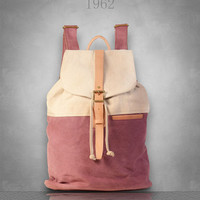 New womens Canvas Backpack Rucksack Bag Large size laptop travel casual School cloth camping eco-friendly tablet