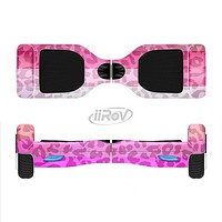 The Hot Pink Striped Cheetah Print Full-Body Skin Set for the Smart Drifting SuperCharged iiRov HoverBoard